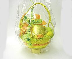 Egg basket large with handle yellowgreenorange
