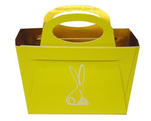 Bag with handle Bunny L125xW55/H95mm Jaune laqué