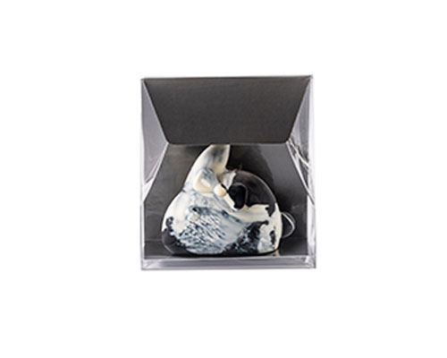 Pochette transparant L100xW50/H110mm warmgrey