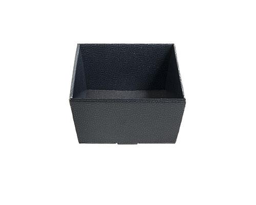 Basket square small 170x170x80mm shiny black