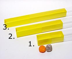 truffelbox 12 339x30x30mm jaune laque