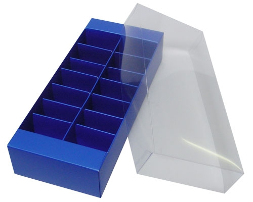 Macaron box 14 division ocean blue