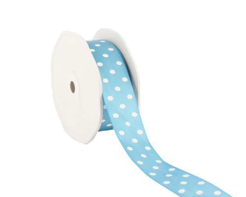 Ribbon dots 23mm/20mtr. col.55 turquoise