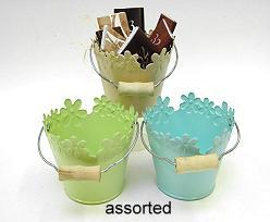 FlowerBucket Met. Ass. Sand/Blue/Green