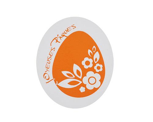 Joyeuses paques label orange 500pcs
