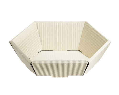 Basket hexa small L245xW205mm front H60mm/ back H105mm creme