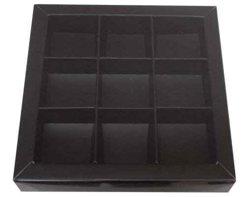 Windowbox 100x100x19mm 9 division black