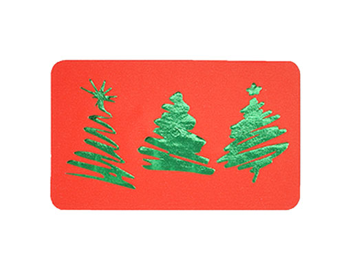 label 3 xmastree red/green 50x30mm rol/500st