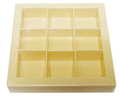 Windowbox 100x100x19mm 9 division crème laqué