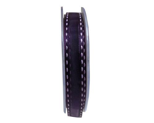 Stitched border 15mm/20mtr aubergine