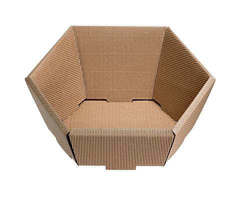 Basket hexa medium L305xW258mm front H75mm/ back H130mm nature