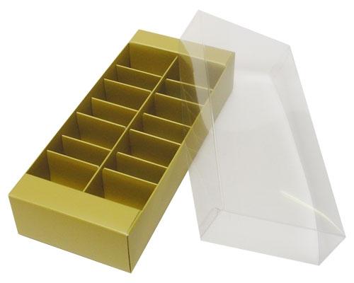 Macaron box 14 division almond