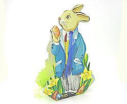 Folding Rabbit large  for filling blue