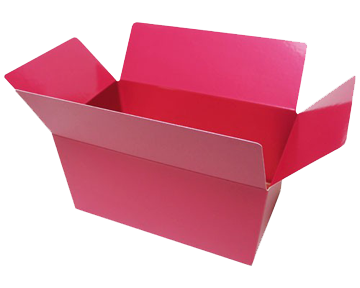 Chocolatebox made of cardboard