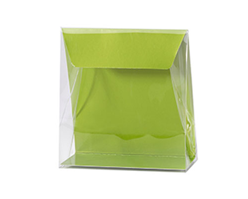 Pochette transparant L130xW50/H140mm kiwi green