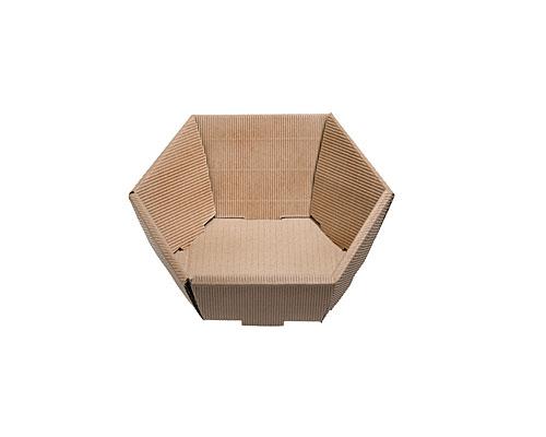 Basket hexa mini L200xW168mm front H48mm/ back H85mm nature
