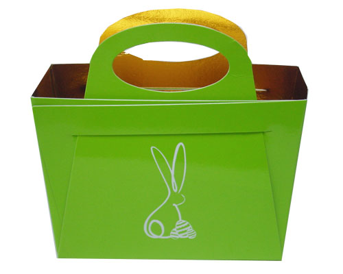 Bag with handle Bunny L125xW55/H95mm Vert pomme laqué
